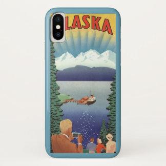 Capa Para iPhone X Poster das viagens vintage, Alaska