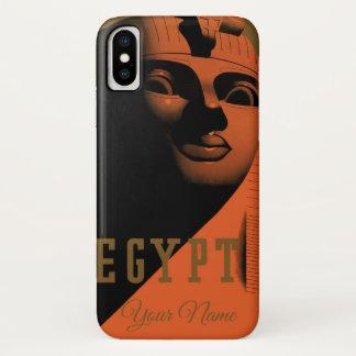 Capa Para iPhone X Poster das viagens vintage com esfinge, Egipto,