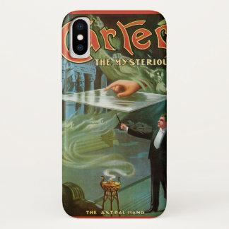 Capa Para iPhone X Poster mágico do vintage, Carter o misterioso
