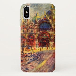 Capa Para iPhone X Praça San Marco, Veneza por Pierre Renoir
