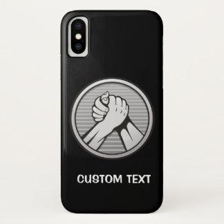Capa Para iPhone X Prata da luta de braço