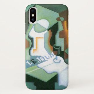 Capa Para iPhone X Prato por Juan Gris, Cubism da garrafa e de fruta