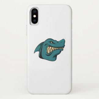 Capa Para iPhone X Presente engraçado engraçado da cara do tubarão