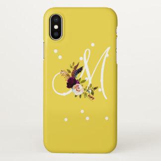 Capa Para iPhone X Presente feito sob encomenda do buquê floral do