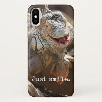 Capa Para iPhone X Presentes de riso da iguana