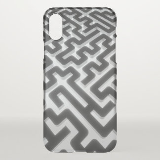 Capa Para iPhone X Preto de prata do labirinto