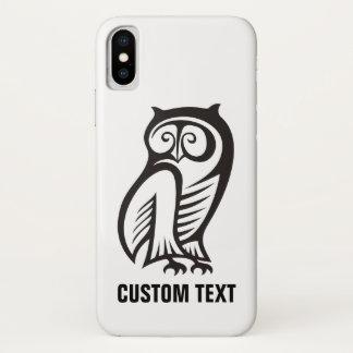 Capa Para iPhone X Preto do símbolo da coruja