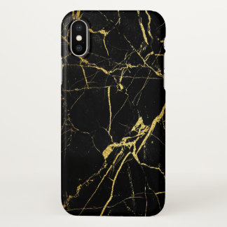 Capa Para iPhone X Preto e ouro
