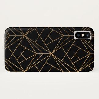 Capa Para iPhone X Preto & ouro