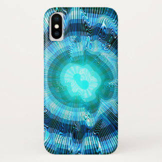 Capa Para iPhone X Psicadélico espiral azul