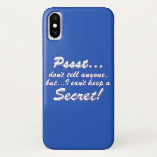 Capa Para iPhone X Pssst… eu não posso manter um SECRETO (branco)