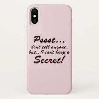 Capa Para iPhone X Pssst… eu não posso manter um SECRETO (o preto)