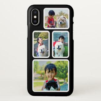 Capa Para iPhone X Quadros preto e branco da colagem da foto feitos