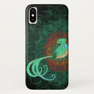 Capa Para iPhone X Quetzal encaracolado mal lá