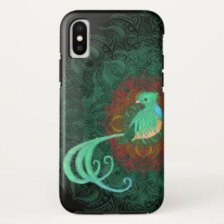 Capa Para iPhone X Quetzal encaracolado resistente
