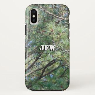 Capa Para iPhone X Ramos de pinheiro 074 de Geórgia