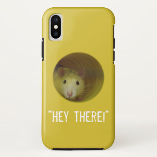 Capa Para iPhone X Rato bonito no animal engraçado do furo