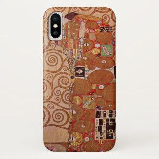 Capa Para iPhone X Realização por Gustavo Klimt, arte Nouveau do