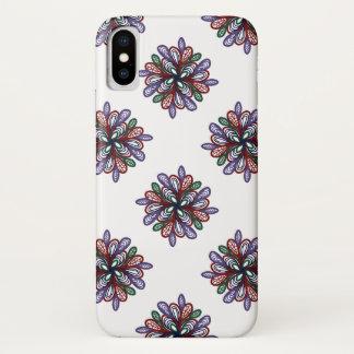 Capa Para iPhone X Redemoinhos florais coloridos ricos