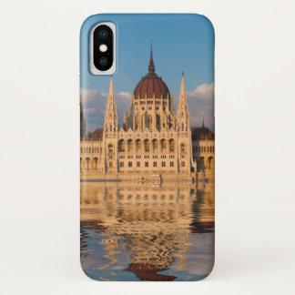 Capa Para iPhone X Reflexão do rio da construção do parlamento
