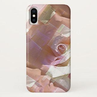Capa Para iPhone X Refrigere rosas abstratos