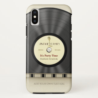 Capa Para iPhone X Registro clássico retro de LP do vinil