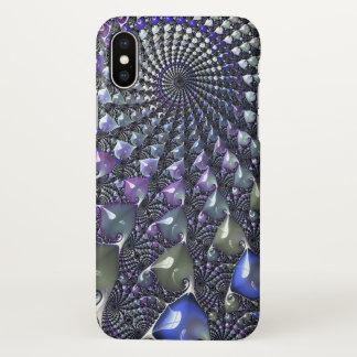 Capa Para iPhone X Repetindo o caso do iPhone X do fractal