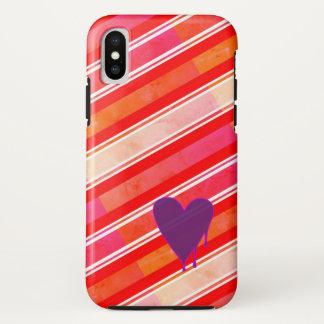 Capa Para iPhone X Resistente roxo de derretimento do coração