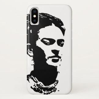 Capa Para iPhone X Retrato da sombra de Frida