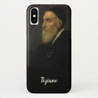 Capa Para iPhone X Retrato de auto por Titian, arte de renascimento