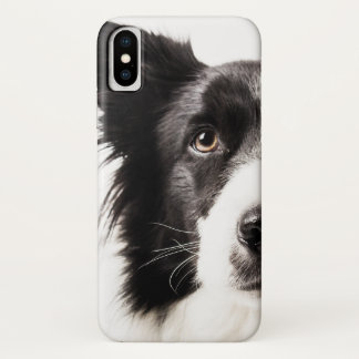 Capa Para iPhone X Retrato de border collie