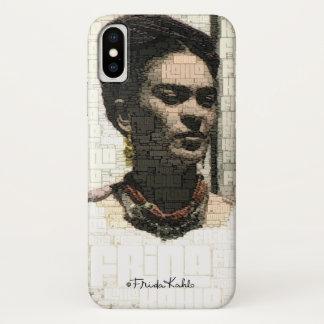 Capa Para iPhone X Retrato de matéria têxtil de Frida Kahlo