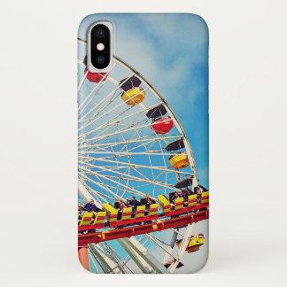 Capa Para iPhone X Roda de ferris do carnaval do divertimento e foto
