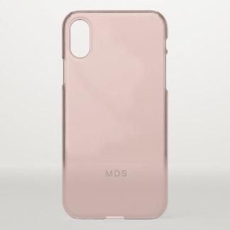 Capa Para iPhone X Rosa cor-de-rosa milenar delicado