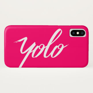 Capa Para iPhone X Rosa de YOLO