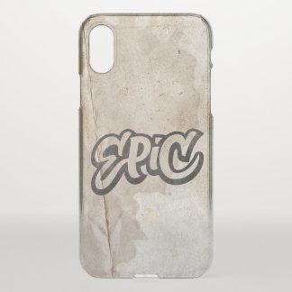 Capa Para iPhone X Rotulação ÉPICO + O Grunge dos grafites do
