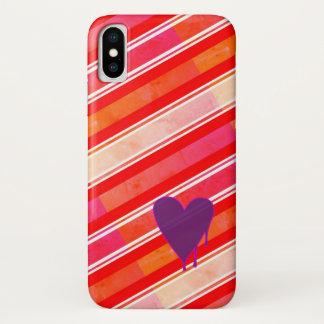 Capa Para iPhone X Roxo de derretimento do coração mal lá