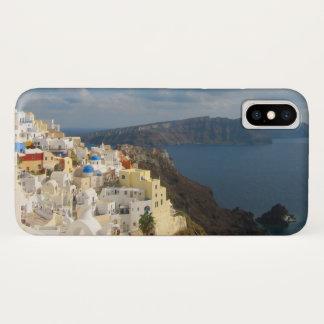 Capa Para iPhone X Santorini na tarde Sun