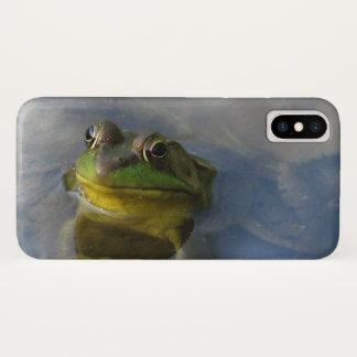 Capa Para iPhone X Sapo verde com um exemplo do iPhone X da atitude