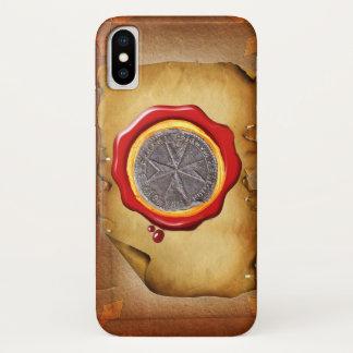 Capa Para iPhone X Selo do pergaminho da CERA de St Stephen Toscânia