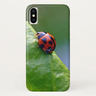 Capa Para iPhone X Senhora no jardim