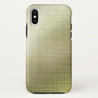Capa Para iPhone X Sequin dourado metálico Sparkling