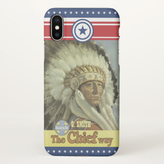 Capa Para iPhone X Série do monograma: Vintage New mexico. Indiano