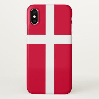 Capa Para iPhone X Símbolo da bandeira de país de Dinamarca por muito