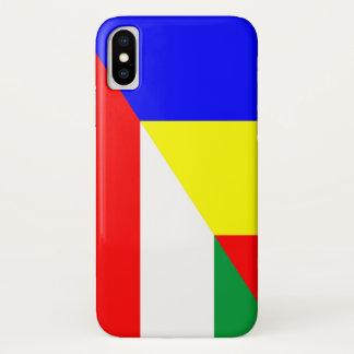 Capa Para iPhone X símbolo do país da bandeira de romania Hungria