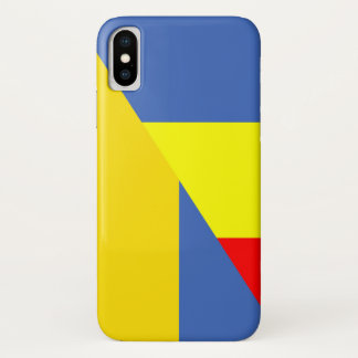Capa Para iPhone X símbolo do país da bandeira de romania Ucrânia