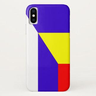 Capa Para iPhone X símbolo do país da bandeira de serbia romania meio
