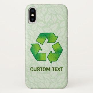 Capa Para iPhone X Símbolo do reciclagem