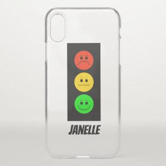 Capa Para iPhone X Sinal de trânsito temperamental customizável com