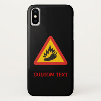Capa Para iPhone X Sinal do perigo do pimento